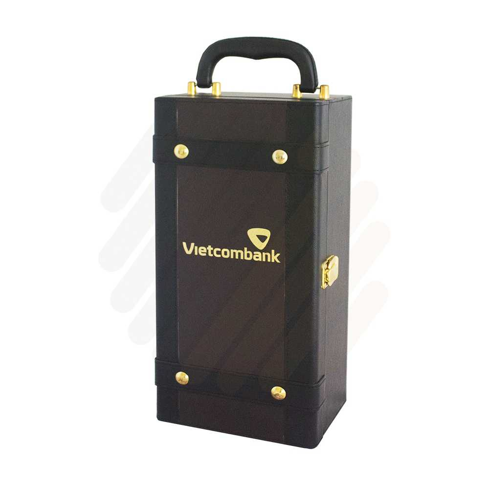 Hộp rượu da Vietcombank đơn