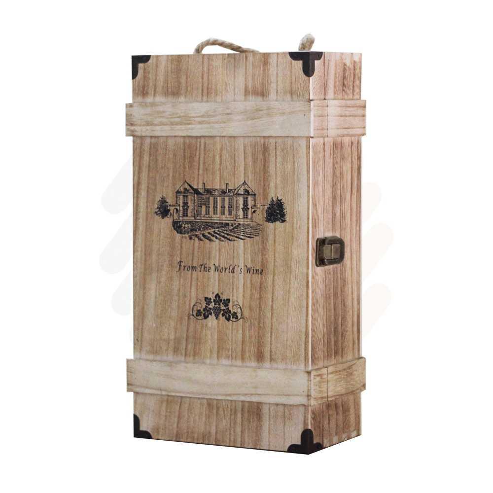 Hộp rượu gỗ LB011