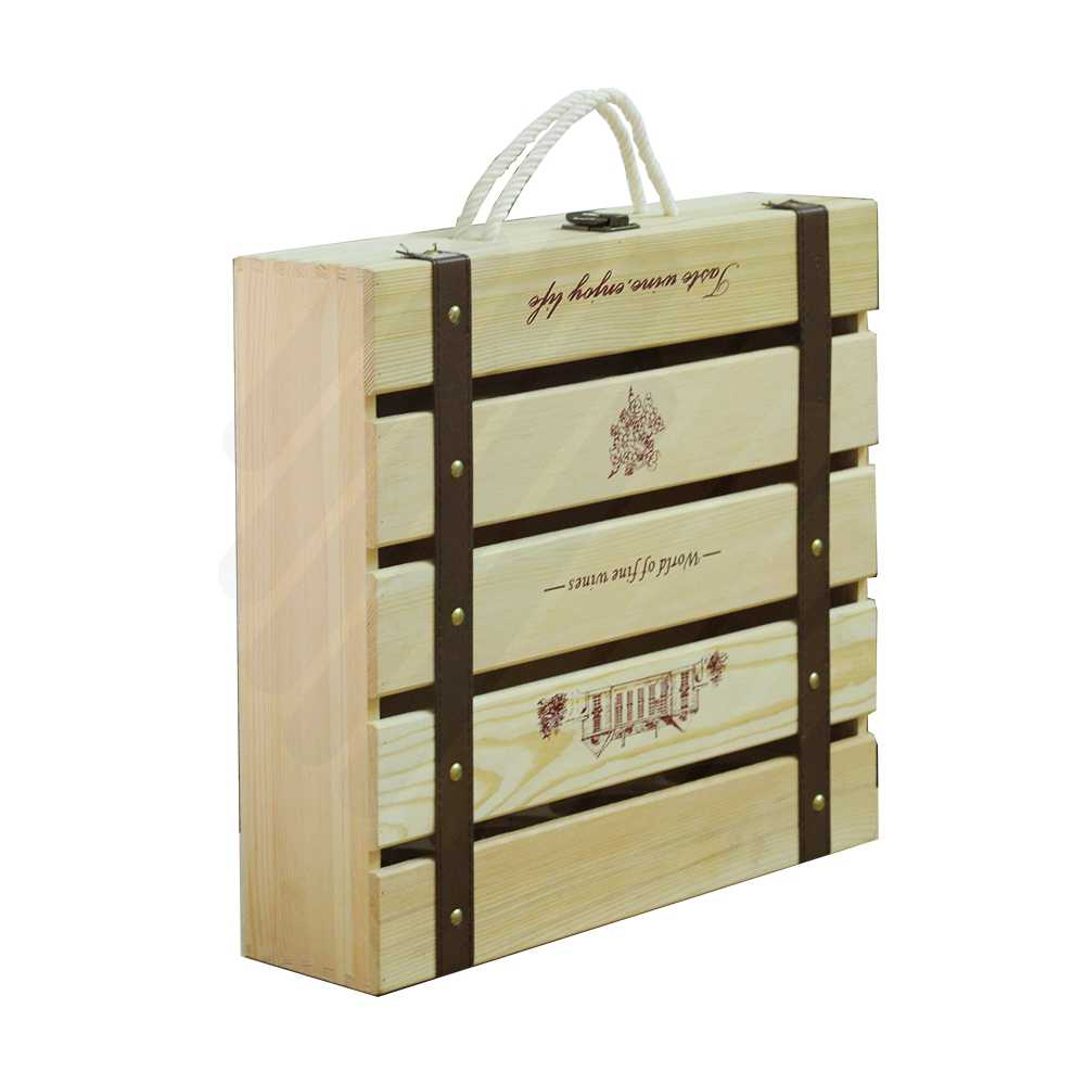 Hộp rượu gỗ LB015
