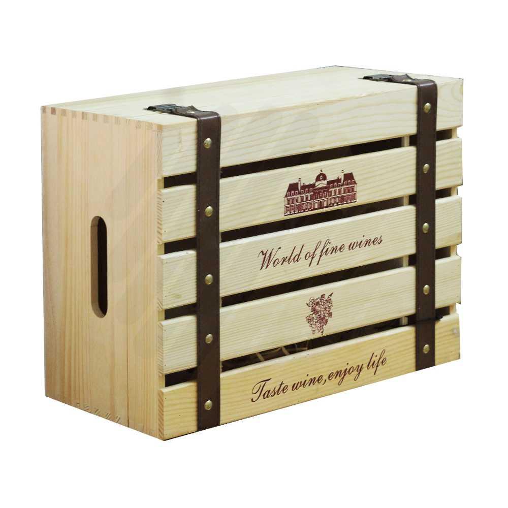Hộp rượu gỗ LB007