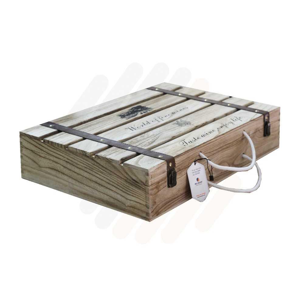 Hộp rượu gỗ LB008